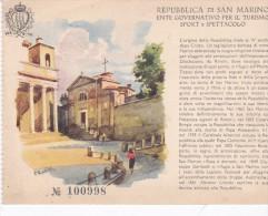 CPSM 10 X 15 . Repubblica Di SAN MARINO (Ente Governativo Per Il Turismo Sport  E Spettacolo / N° 100998 (Illus PRATINI) - Saint-Marin