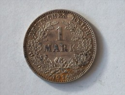 ALLEMAGNE 1 MARK 1914 E ARGENT SILVER Germany Deutschland Ein - [ 2] 1871-1918: Deutsches Kaiserreich