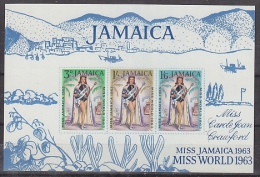 Jamaica 1963 Miss World M/s ** Mnh (26459) - Jamaica (1962-...)