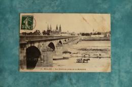 CPA 03 MOULINS. Vue Générale Prise De La Madeleine. Carte Animée, Attelage...26-07-1908.