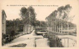 CPA- NOGENT-sur-SEINE (10) - Aspect De L'Ecluse De Bernières Et Du Canal De Marnay En 1910 - Nogent-sur-Seine