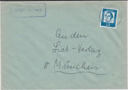 Bund Bed Deutsche Mi 351 Bf Landpost Stempel 5781 Antfeld B Bestwig 1963 - Storia Postale
