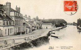 CPA- NOGENT-sur-SEINE (10) - Vue De La Rue Des Ecluses En 1911 - Nogent-sur-Seine