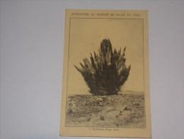 Industrie Du Nitrate De Soude Du Chili.Explosion D Une Mine.Publicité Engrais Au Dos.(2 Scans). - Industrie