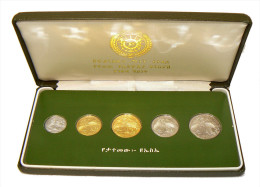 ETHIOPIA - PEOPLE'S DEMOCRATIC REPUBLIC - 1, 5, 10, 25, 50 Cents (1977) Coin Series - Franklin Mint Original Box - Etiopia