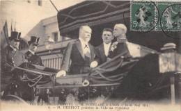 CPA 69 LYON VOYAGE PRESIDENTIEL POINCARE 1914 M.HERRIOT PRESENTE LA VILLE AU PRESIDENT - Lyon