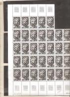 FRANCE  FRAGMENT DE  FEUILLE DE 37  TIMBRES  NEUF ** MNH N° 2098  DE 1980 - Feuilles Complètes