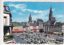 STRASBOURG (67- Bas Rhin) Place Kléber Et La Cathédrale, Voitures Sur Parking, Ed. Estel 1967 - Strasbourg