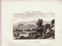 1835 - Gravure Sur Cuivre - Saint-Céneri-le-Gérei (Orne) - Vue Générale - FRANCO DE PORT - Estampes & Gravures
