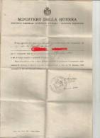 97942 DOCUMENTO  MILITARE  PRIMA GUERRA MONDIALE - Vecchi Documenti
