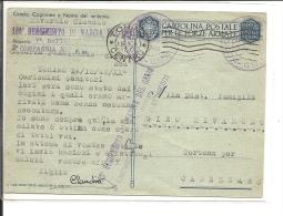 Italie  Carte Militaire  1942  , 180° Régiment De Marche Du Génie  (99/100) - 1900-44 Victor Emmanuel III
