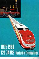 EISENBAHN / Railway / Chemin De Fer / Ferrocarril / Ferrovia / Spoorweg - 125 Jahre Deutsche Eisenbahnen, 1960 - Trenes