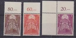 Europa Cept 1957 Luxemburg 3v (+margin)  ** Mnh (original Gum) (26467) - Europa-CEPT