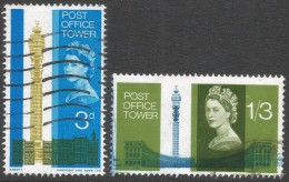 Great Britain. 1965 Opening Of Post Office Tower. Used  Complete Set. SG 679-680 - 1952-.... (Elizabeth II)