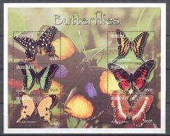 Burundi COB BL144 Vlinders-Papillons-Butterflys 2004 MNH