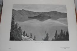 Etats Unis. Crater Lake Dans L´Oregon. 1914. - Etats-Unis