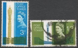 Great Britain. 1965 Opening Of Post Office Tower. Used Complete Set (Phosphor). SG 679p-680p - 1952-.... (Elizabeth II)