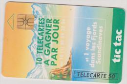 (R) Telécarte  , Tic Tac , 10 Télécartes à Gagner Par Jour , 50 Unités , 1992 - Jeux