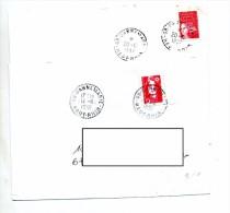 Lettre Cachet Dannemarie  2 Types - Storia Postale