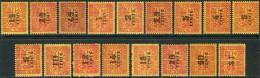 Indochine 1931/41. Michel #57/74 VF/MNH. Taxe (TS13) - Portomarken