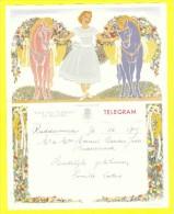 * Telegram - Télégramme (B17 - V)  * Koninkrijk België, Regie Van Telegraaf En Telefoon, Fantaisie, Huwelijk, Oostkamp - Entiers Postaux