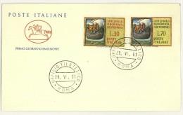 ITALIA - FDC CAVALLINO - ANNO 1961 - 19° CENTENARIO DELL'ARRIVO DI S. PAOLO A ROMA  - UFFICIO FILATELICO ROMA - - F.D.C.