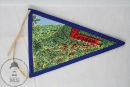 Vintage France - Cerdon Dans L´Ain Cloth Pennant/ Flag/ Fanion - Otros