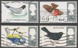 Great Britain. 1966 British Birds. Used Complete Set SG 696-699 - 1952-.... (Elizabeth II)