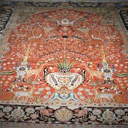 Antique Persian Persia Tabriz Carpet, Ghajar Dynasty Period Of 1900, The Only One, And Rare,PRIVATE COLLECTION - Rugs, Carpets & Tapestry