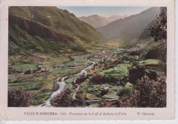 CPSM Panorama De La Vall D´Andorra La Vella - Andorre
