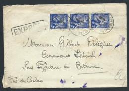 FRANCE - Enveloppe En Exprés De Calais Pour Bethune En 1945 - A Voir - Lot  P14023 - Posttarife