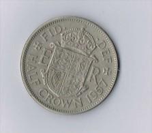 1957 Elizabeth II British Half Crown - Monnaies
