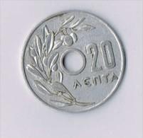 1954 Greece 20 Lepta - Grèce