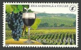 MOLDOVA 2006 WINE GROWING FOWERS GRAPES SET MNH - Moldova