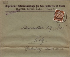 MOSELLE -St Avold  - Enveloppe-CAD-Allemagne-1941 - 1921-1960: Periodo Moderno