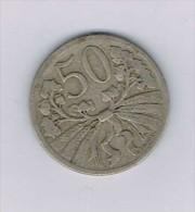 Czechoslovakia 50 Haleru 1922 - Monnaies