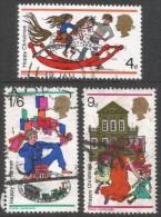 Great Britain. 1968 Christmas. Used Complete Set. SG 775-777 - 1952-.... (Elizabeth II)