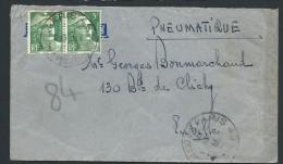 FRANCE - Enveloppe En Pneumatique De Paris En 1945 - Voir Scans - Lot  P14028 - Posttarife