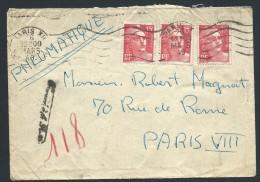 FRANCE - Enveloppe En Pneumatique De Paris En 1949 - Voir Scans - Lot  P14030 - Posttarife