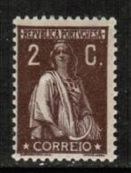 PORTUGAL  Scott  # 216* VF MINT HINGED - 1910-... Republic