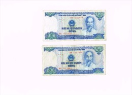 20000 Dong - HAI MUOI NGHIN DONG  X 2 - Vietnam - Billets