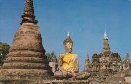 Tahilandia--1988--The Image Of Buddha On The Grounds Of Wad Mahathart--Sukhotai Province, Northern Thailand - Tailandia