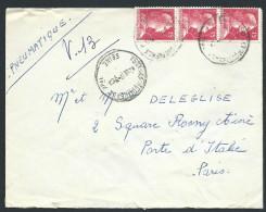 FRANCE - Enveloppe En Pneumatique De Paris En 1957 - Voir Scans - Lot  P14031 - Posttarife