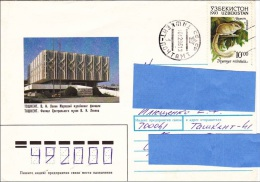 Z2] Enveloppe Cover Timbre D´ Ouzbékistan Avec Oblitération D´ URSS / Stamp Of Uzbekistan With USSR Cancellation - Ouzbékistan