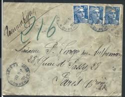 FRANCE - Enveloppe En Pneumatique De Paris En 1952 - Voir Scans - Lot  P14032 - Posttarife