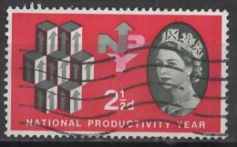 GREAT BRITAIN 1962 National Productivity Year. - 21/2d Units Of Productivity FU PHOSPHOR ISSUE (1 Band) - Used Stamps