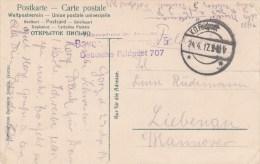Bayer Feldlazarett 5 + TàD K.D. Feldpost échoppé Du 24.4.17 Sur CP Gruss Aus GORZE Calvarienkreuz - Oorlog 1914-18