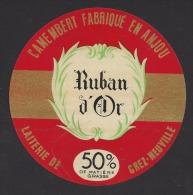 Etiquette De Fromage Camembert  -   Ruban D´Or   -  50 %  -  Laiterie De Grez Neuville  (49) - Fromage