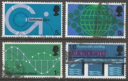 Great Britain. 1969 Post Office Technology Commemoration. Used Complete Set. SG 808-811 - 1952-.... (Elizabeth II)