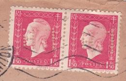 """DULAC 1f Paire PERFORÉS """""""" LH """""""" Librairie Hachette Sur Lettre En-tête > CASABLANCA MAROC - Postmark Collection (Covers)"""
